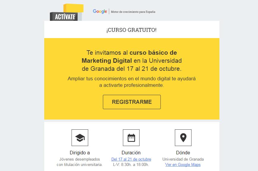 Google e IAB Spain organizan un curso gratuito de marketing digital en la UGR