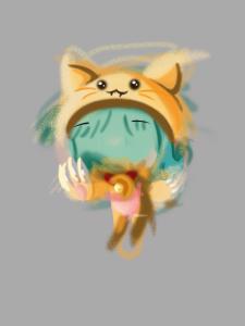 nina-gato-pluma-e