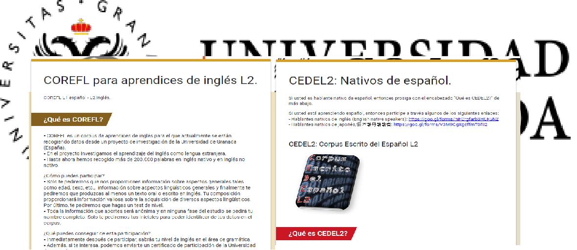 COREF y CEDEL: un estudio para conocer el aprendizaje de una segunda lengua