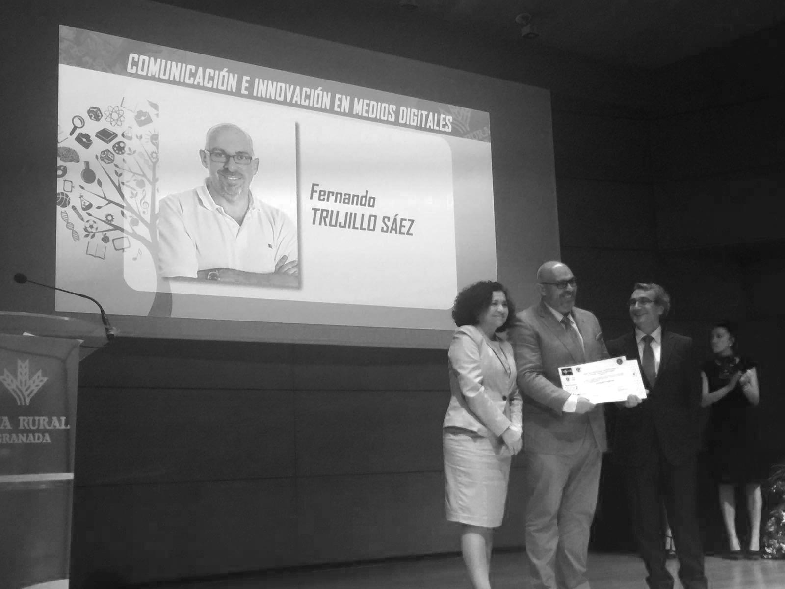 Fernando Trujillo, ganador del premio Medialab a la innovación y comunicación en Medios Digitales
