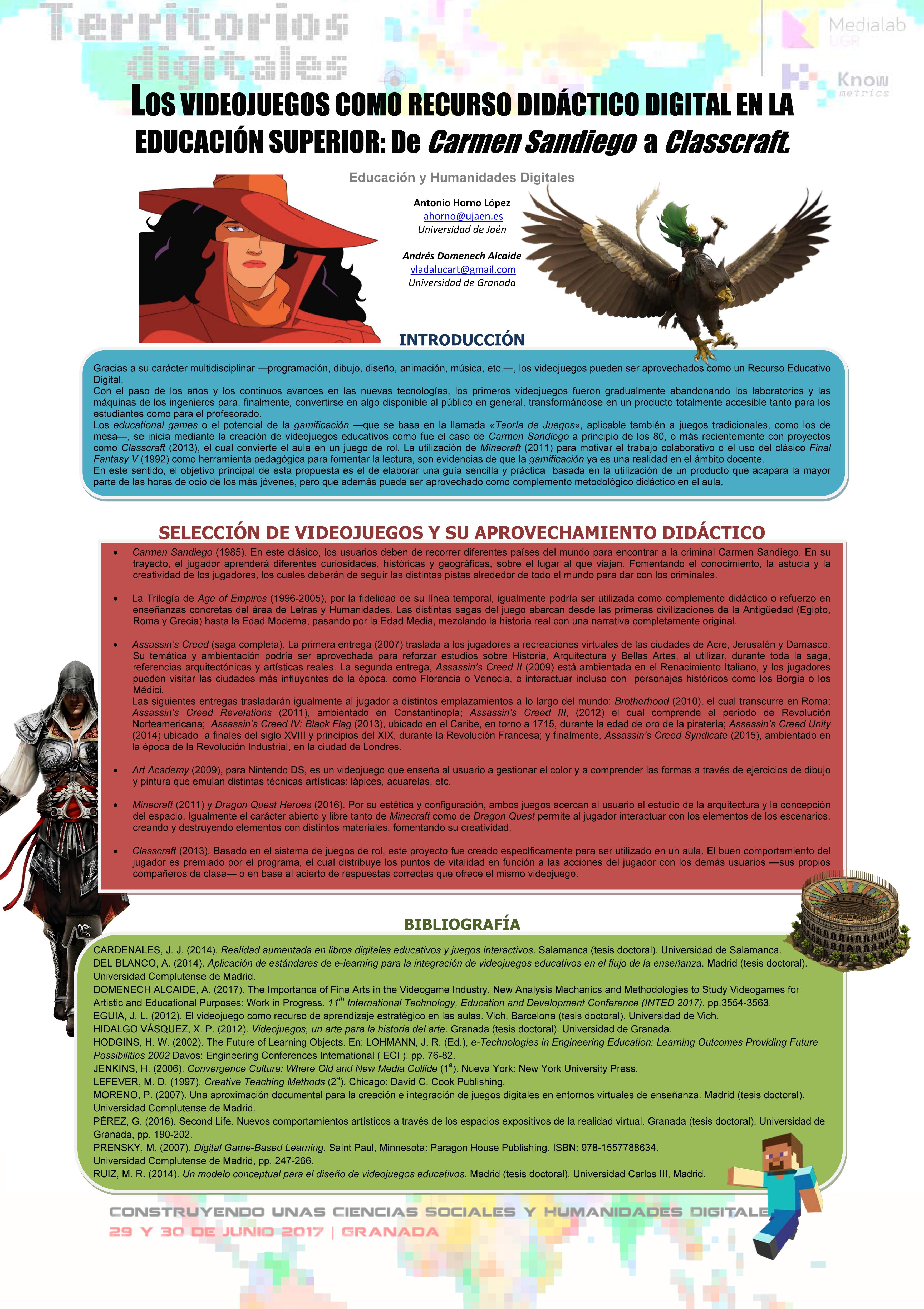 Los videojuegos como recurso didáctico digital en la educación superior: de Carmen Sandiego a Classcraft