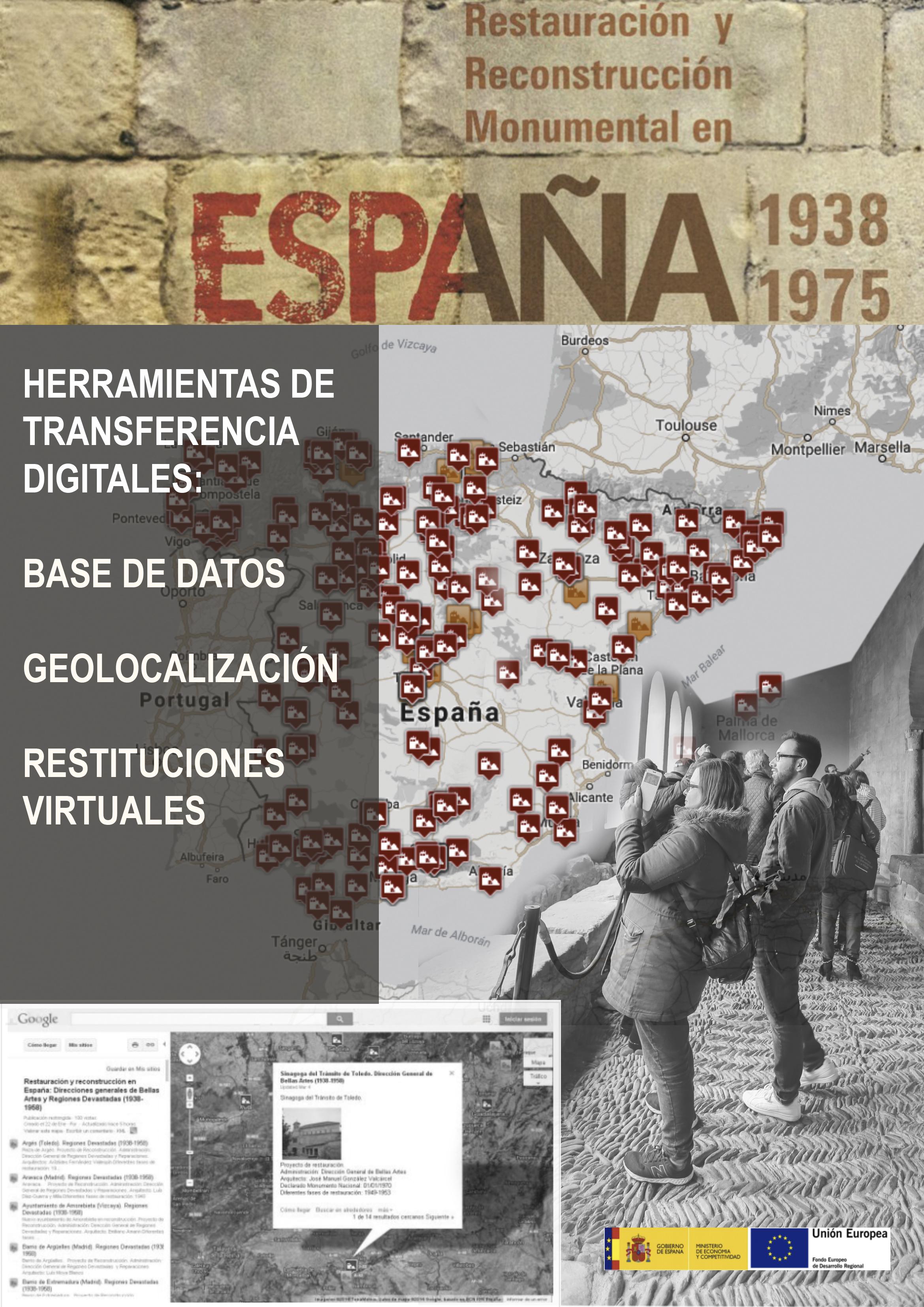 Herramientas digitales de transferencia de la investigación del proyecto Los Arquitectos Restauradores en la España del Franquismo