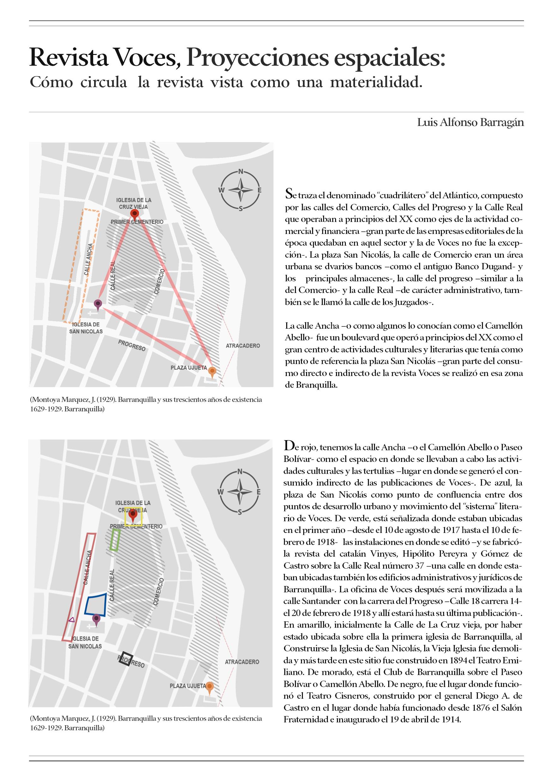 Revista Voces, proyecciones espaciales: Cómo circuló la revista vista como una materialidad.