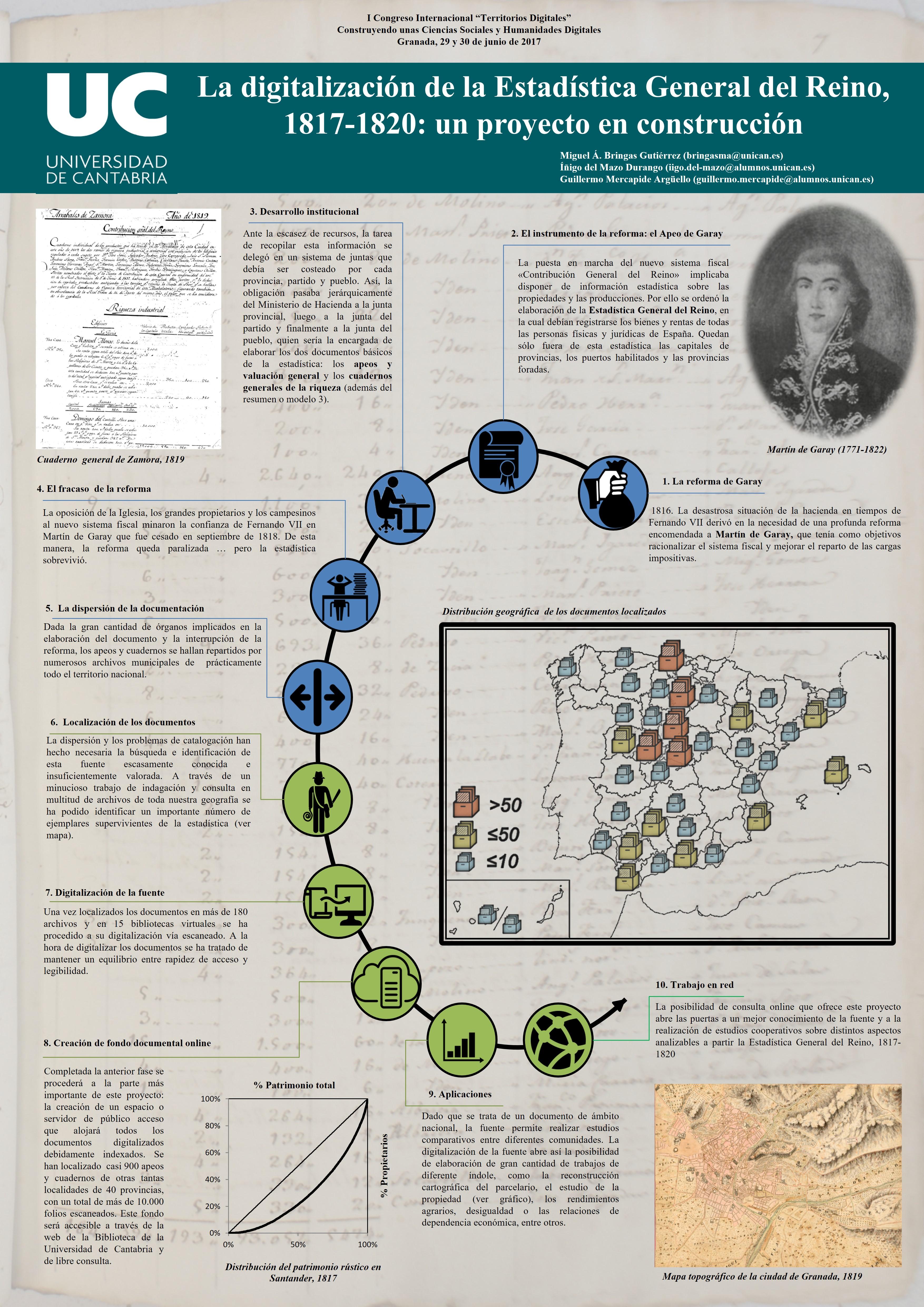 La digitalización de la Estadística General del Reino, 1817-1820: un proyecto en construcción