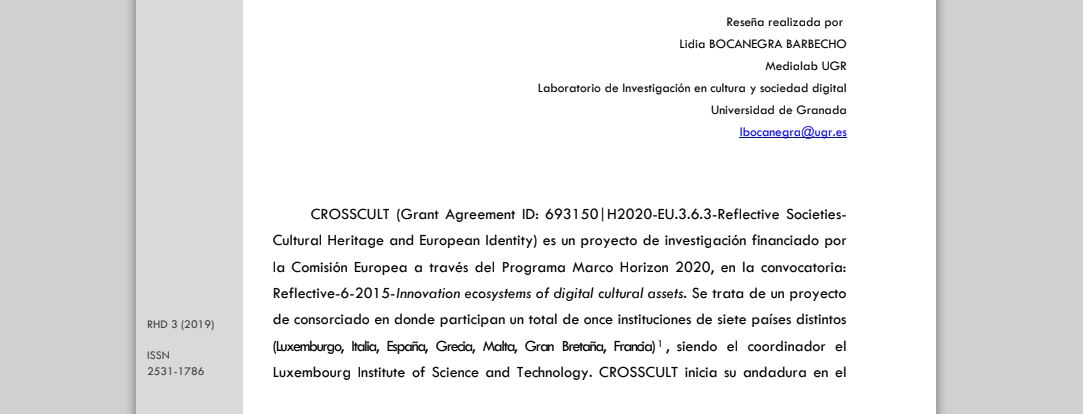 CROSSCULT. Empowering Reuse of Digital Cultural Heritage in Context-Aware Crosscuts of European History