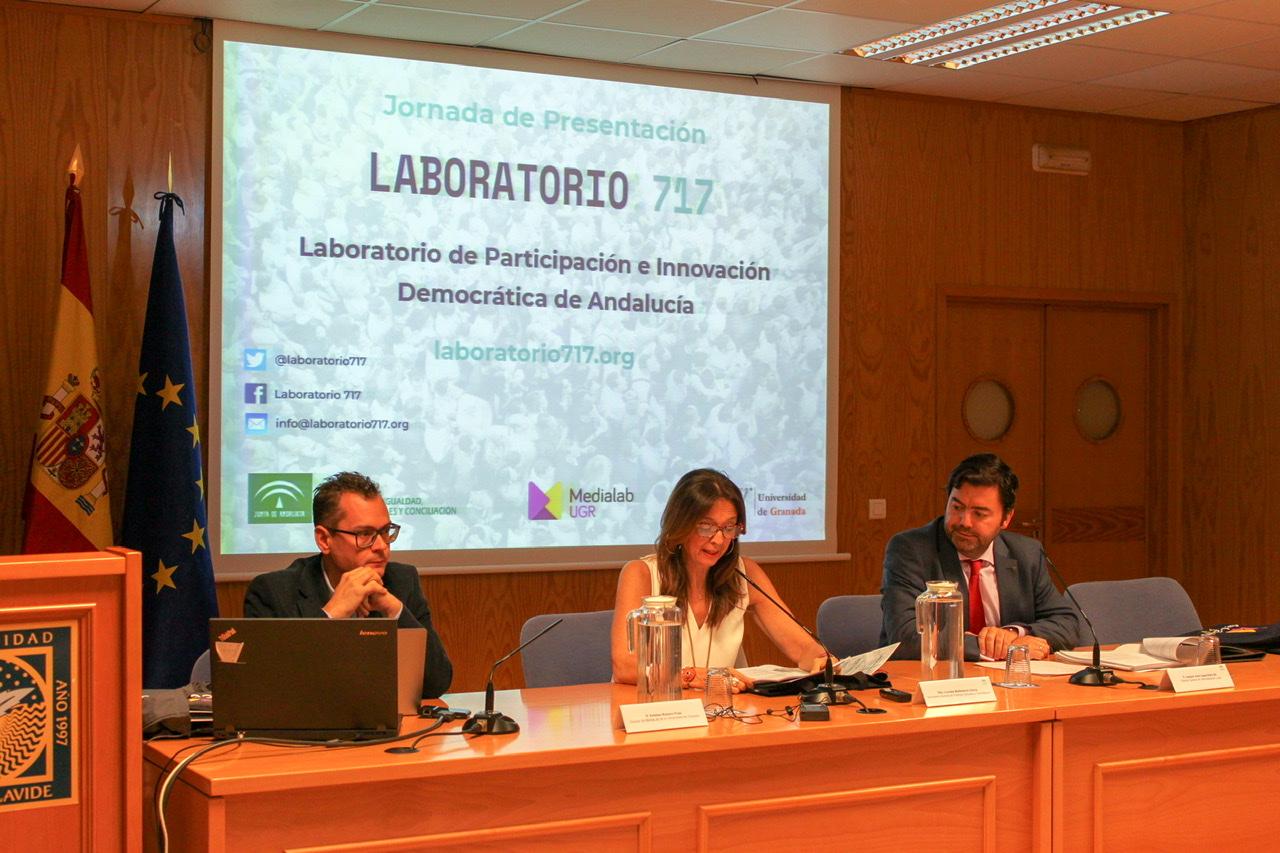 """Presentado públicamente el """"Laboratorio 717 – Laboratorio de Participación e Innovación Democrática de Andalucía"""""""