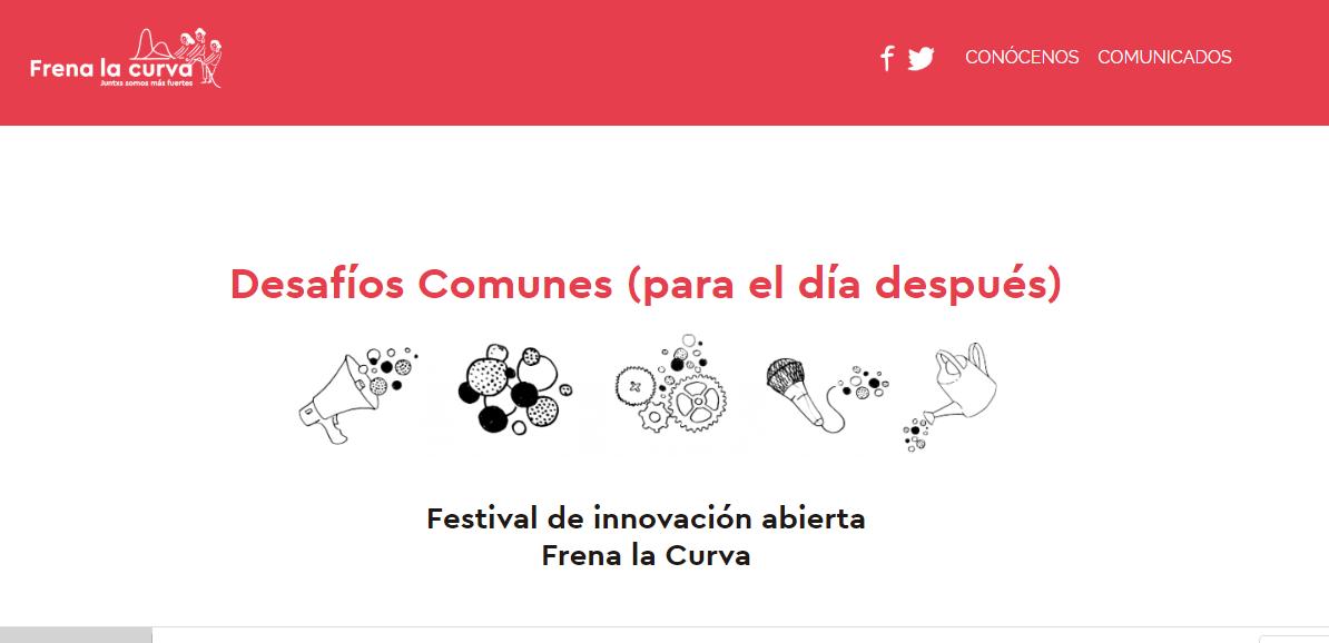 Festival de innovación abierta Frena la Curva. Desafíos Comunes (para el día después)