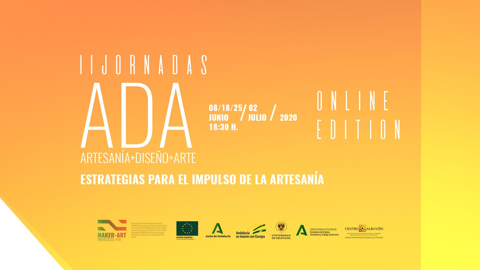II Jornadas ADA: Artesanía+Diseño+Arte (edición virtual)