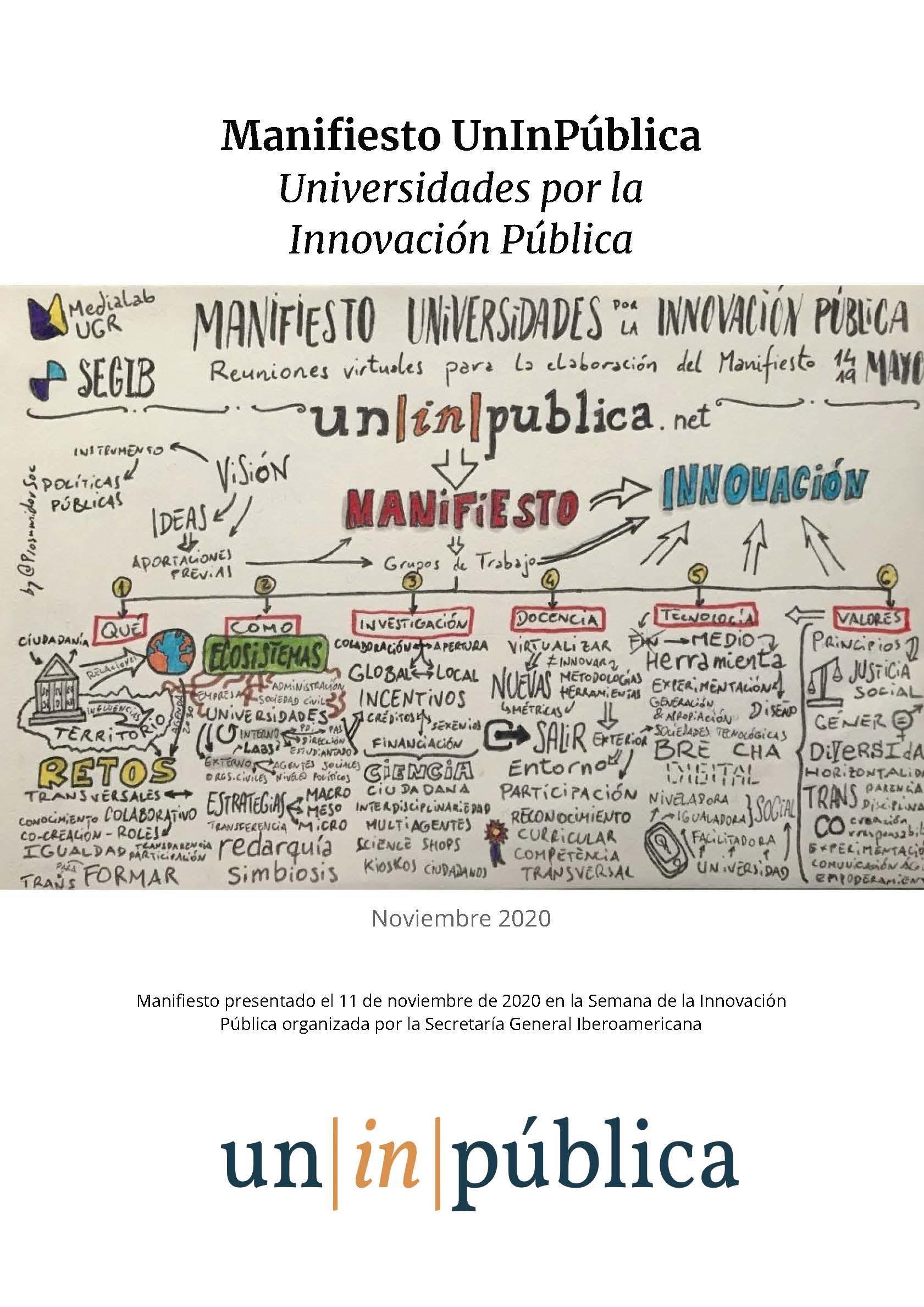 Medialab UGR coordina la redacción y publicación de un Manifiesto de Universidades por la Innovación Pública