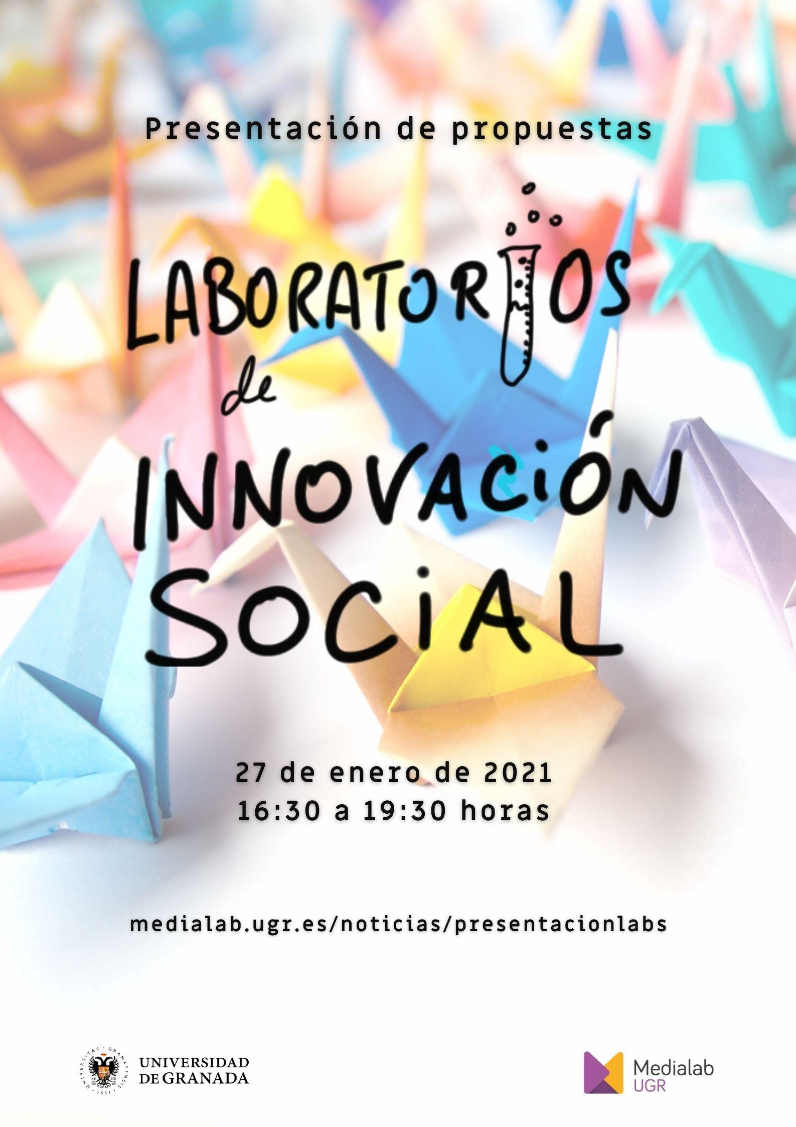 Jornada de presentación de propuestas de los Laboratorios de Innovación Social