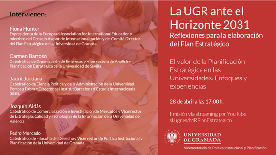 La UGR ante el Horizonte 2031. Reflexiones para la elaboración del Plan Estratégico